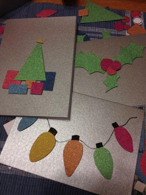 Cómo hacer tarjetas de Navidad simple