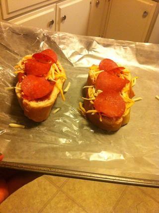 Ahora fuera al horno que vayas !! Esperé unos 10 minutos hasta que eran agradables y crujiente :)