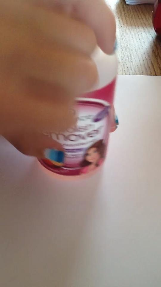 ¡ETAPA 4! Utilice el removedor nailpolish y el hisopo cottom para borrar todas las cosas feas -p