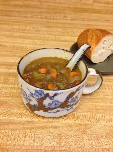 Cómo hacer simple Receta Vegetariana Sopa de lentejas