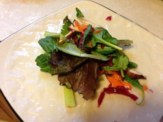 Papel de arroz Hermosa y verduras. Dejar's roll!