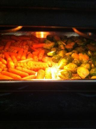 Coloque en el horno y hornear durante unos 20 minutos a 450 *