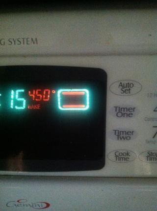 Asegúrese de precalentar el horno a 450 * f !!