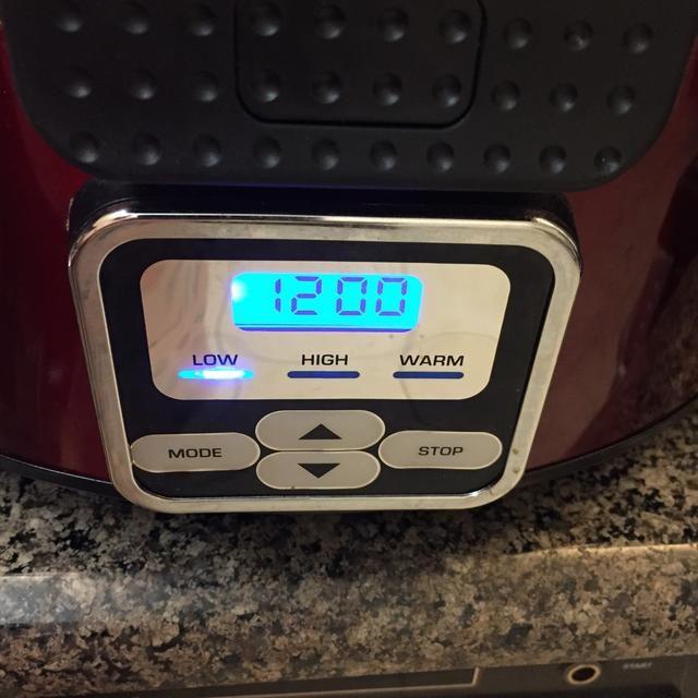 Ajuste el temporizador durante 12 horas en punto bajo.