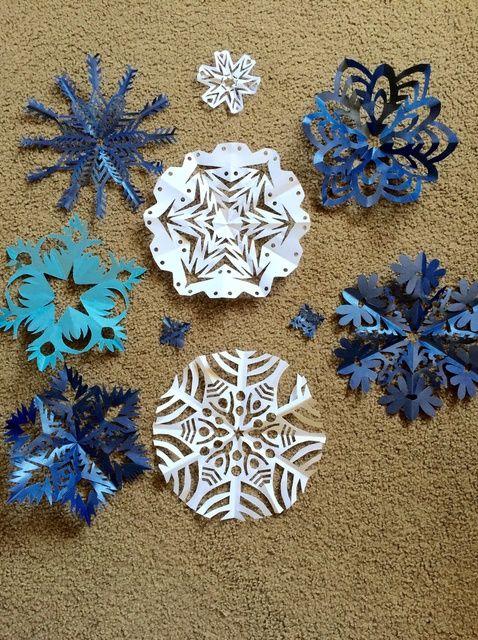 Cómo hacer copos de nieve para Navidad