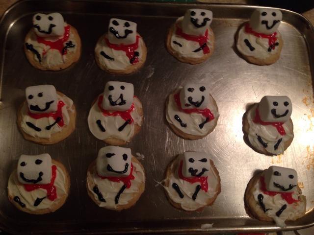 Ahora se hacen las galletas.