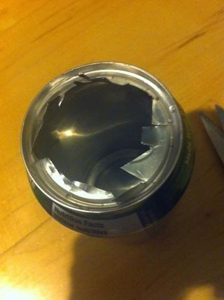 Trate de terminar con esto. A continuación, doblar los restos de ida y vuelta hasta que se caen.