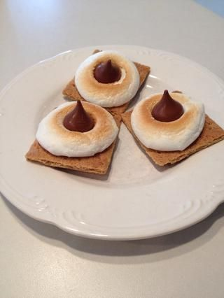 Hace'mores in the oven for a friend, a neighbor, or your kids. It only takes minutes and they will LOVE the treat! (Look through my Snapguides for the recipe - so easy to make!)