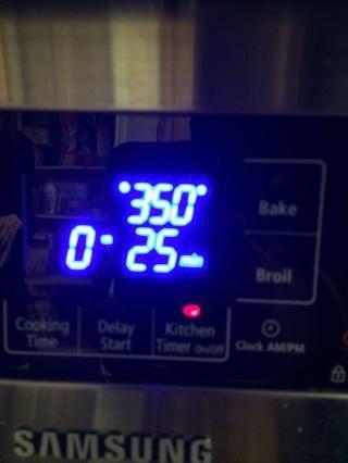 Hornee a 350 grados durante 25 minutos