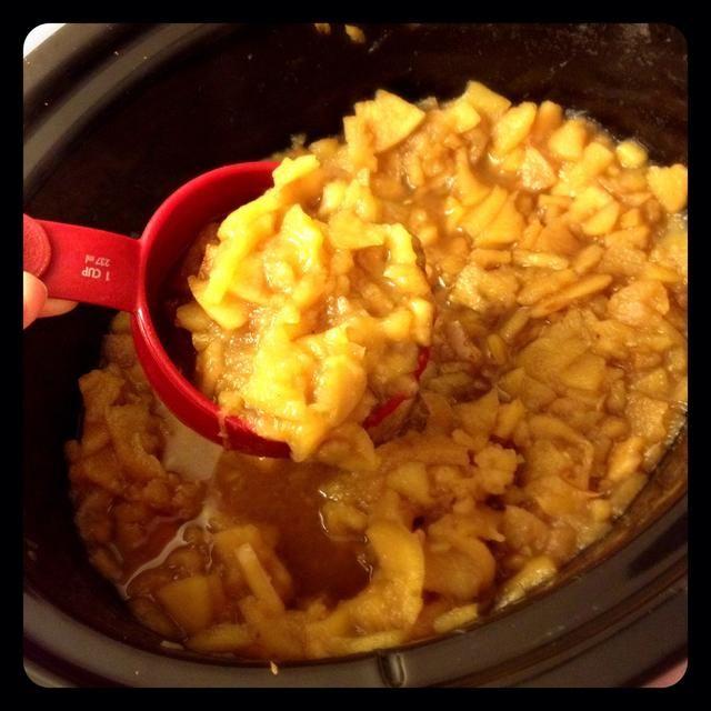 Saque el puré de manzana