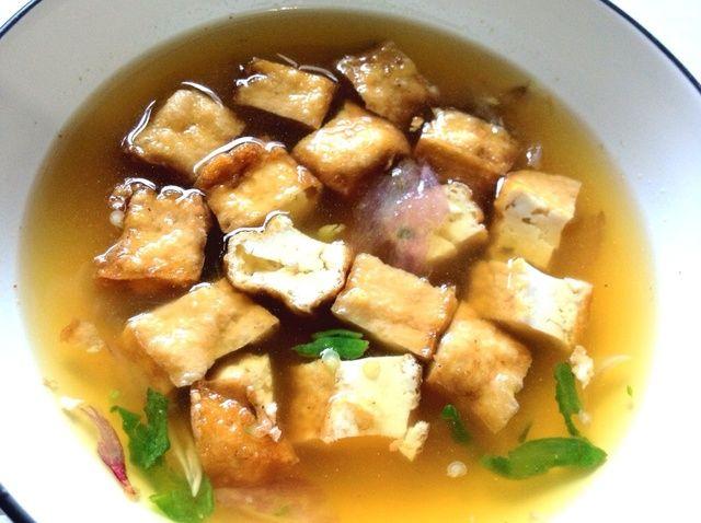 Cómo hacer picante triturado tofu frito Receta