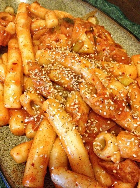 Cómo hacer picante coreana Torta de arroz pegajoso (Dduk-Bok-Gi) Receta