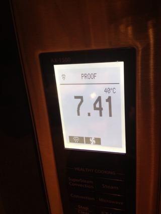 Prueba durante 8-10 minutos. Si u no tiene el horno poofable, justo a la izquierda cubierta con una toalla húmeda (no empapado por favor !!) en la sala climatizada.