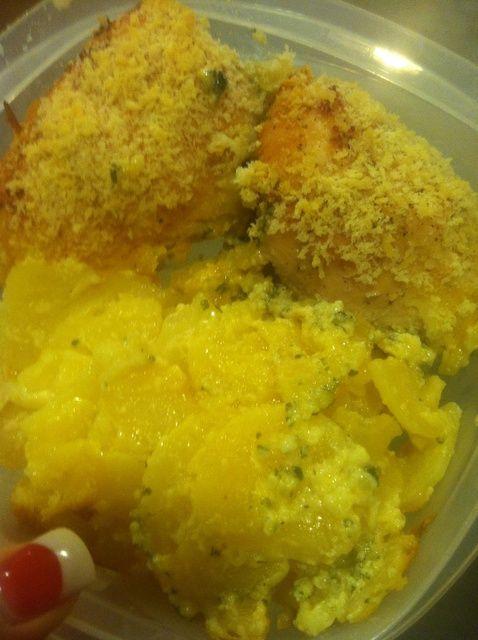 Cómo hacer de espinacas y crema de pollo relleno Receta