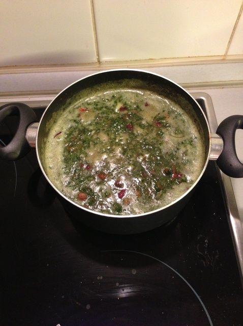 Cómo hacer que la espinaca y de Riñón Red Bean Caldo / receta de la sopa
