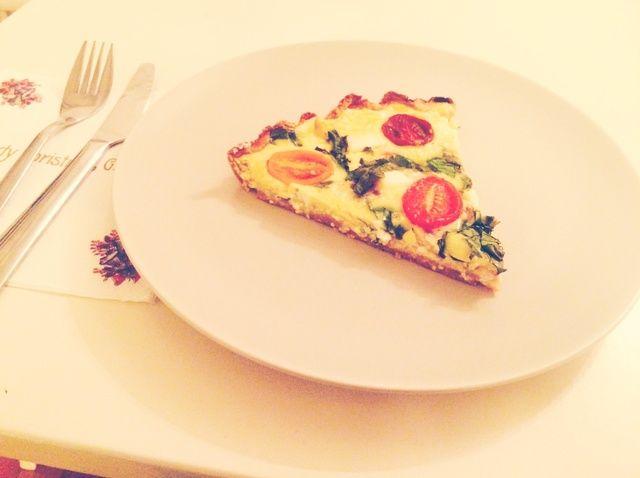 Cómo hacer Espinacas Feta + Pie Con gluten Camote corteza Receta