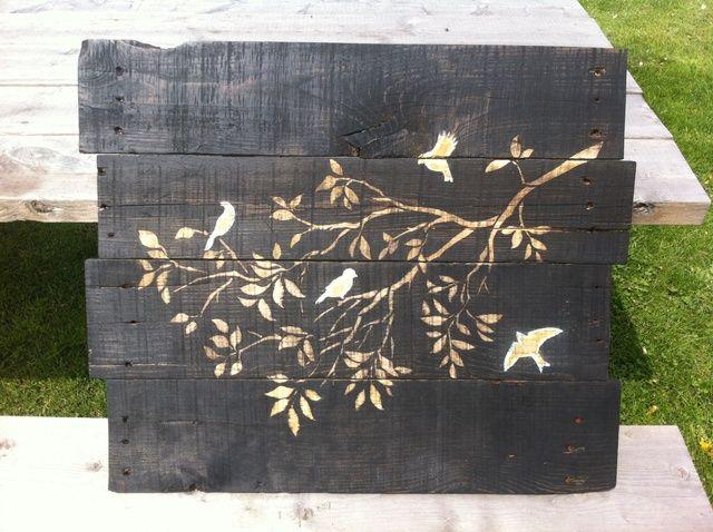 Cómo hacer madera manchada Pallet Wall Art