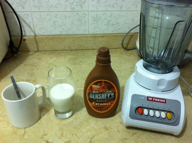 Un ingrediente que don't have here! vanilla syrup But you can do it with or without vanilla :)