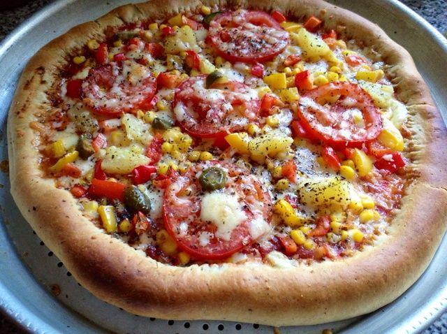 Cómo hacer rellenas corteza Pizza vegetariana Receta