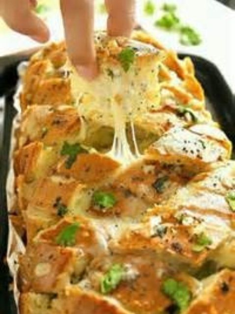 Cómo hacer rellenas italiana Cheesy pan de ajo Receta