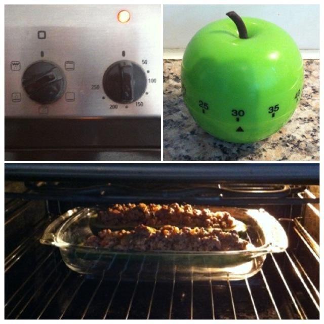 Póngalo en el horno durante 30 minutos a 180 grados Celsius.