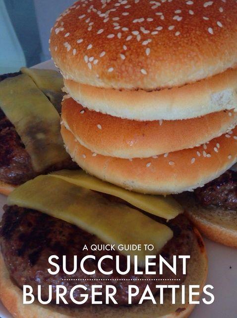 Cómo hacer hamburguesas de carne suculenta de la receta de Scratch