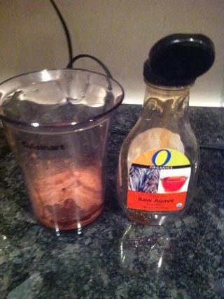 Ponga en el vaso de mezcla de agave