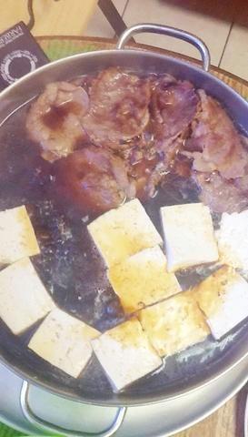 Añadir unos cubitos de tofu.