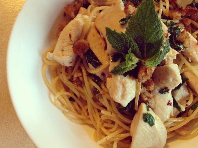 Cómo hacer Verano pasta con pollo y menta Receta