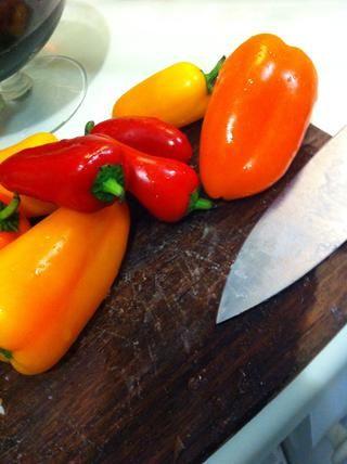 Prepare sus pimientos de varios colores ...