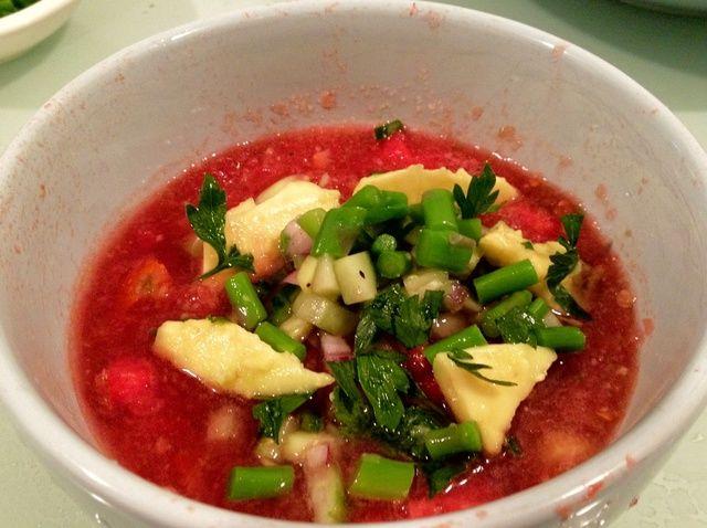 Cómo hacer Summer Watermelon Gazpacho Receta