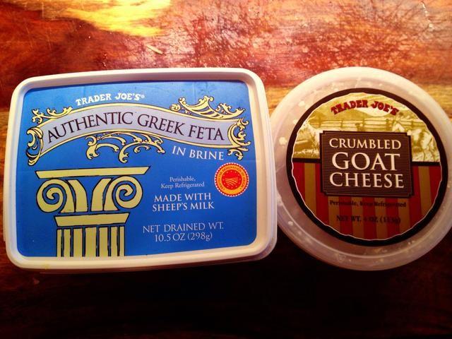 Elija su queso! Feta o queso de cabra funciona ... Lo que te hace feliz.
