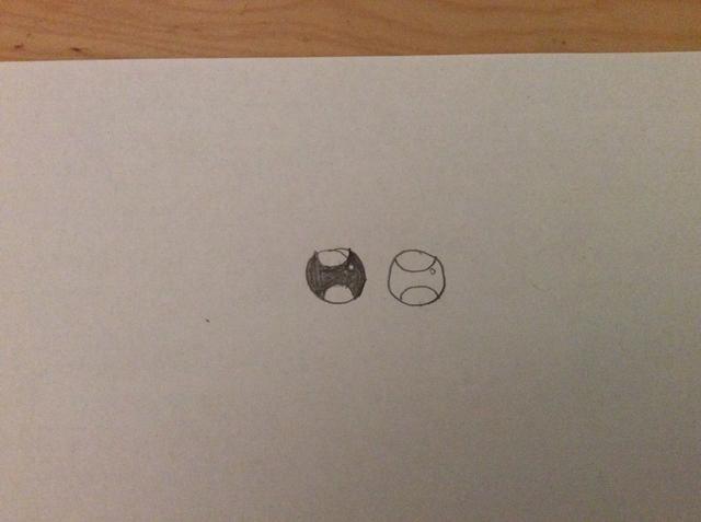 A continuación, hacer pequeños círculos en la parte central del ojo en la esquina superior derecha. Entonces sombra en la parte principal, pero dejar el pequeño círculo sin sombra. Haga esto para ambos ojos.