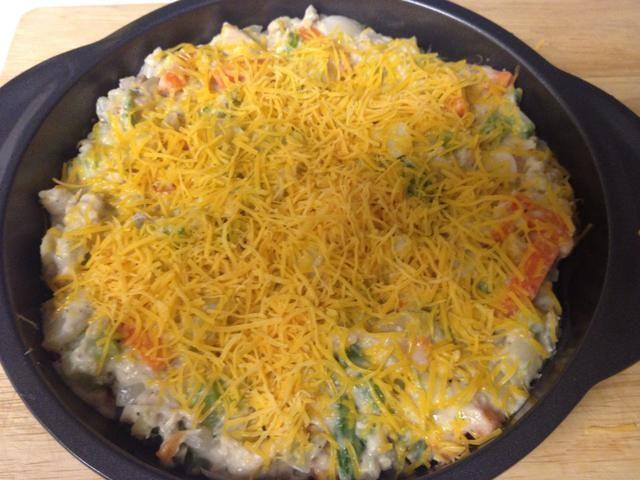 Espolvorear el queso por encima.
