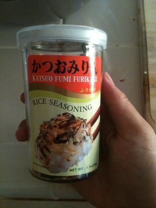 Condimentos Furikake es tan bueno que me puse en todo ... bien no todo