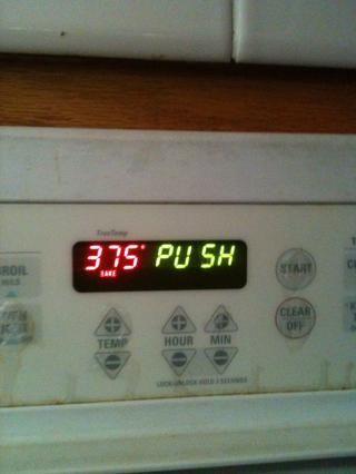 Asegúrese de que usted consiguió establecer su horno! 375 grados sería mejor!