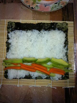 Ponga las verduras (puede ir creativa aquí)
