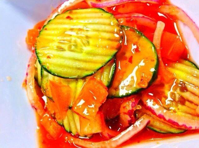 Cómo hacer dulce y picante asiática Receta Ensalada de pepino