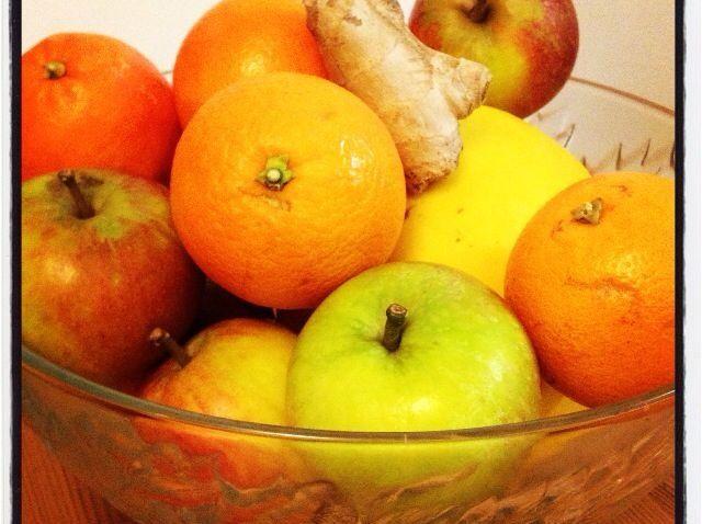 Cómo hacer dulce de manzana, naranja, melón y jengibre jugo Receta