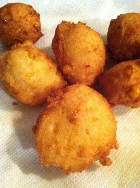 Cómo hacer dulce de maíz Buñuelos Receta