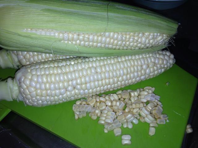 Limpiado el maíz