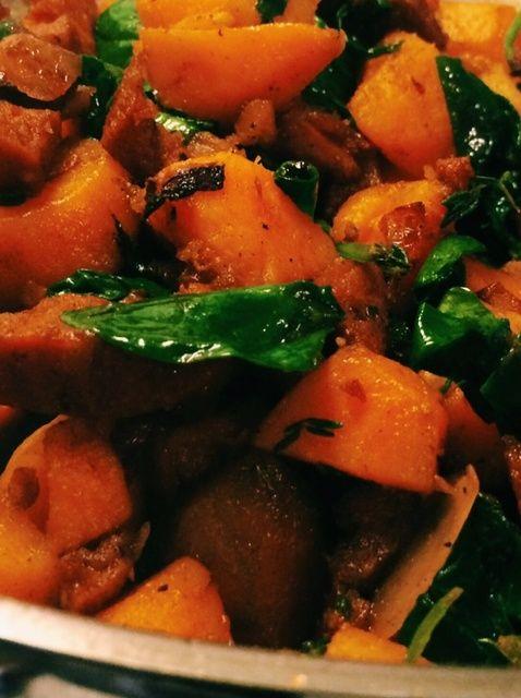 Cómo hacer dulce de patata y chorizo Hash Receta