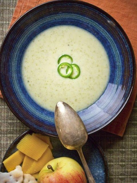 Cómo hacer sopa de patata dulce de coco Receta
