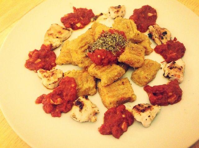Cómo hacer ñoquis de patata dulce W / salsa de tomate y la receta de pollo