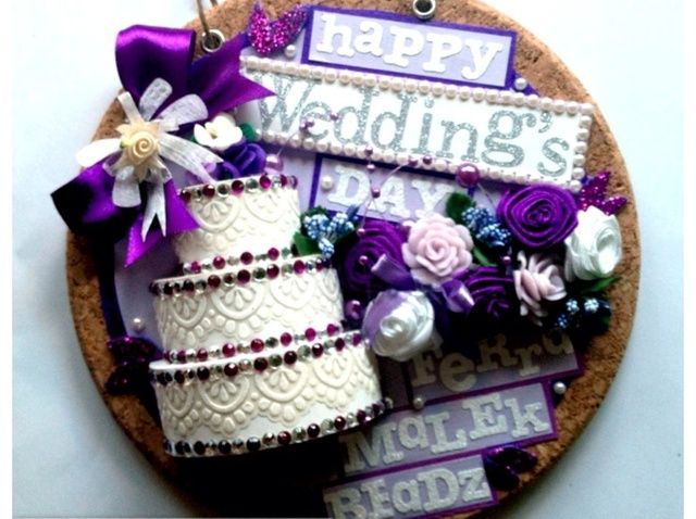 Cómo hacer que la tarjeta de felicitación dulce de la boda