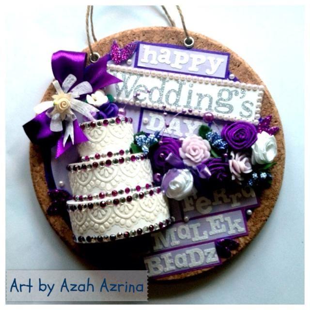 ¡Así que esto es todo! La versión final .. Usted puede hacer que sea como regalo de bodas muy dulce y único -) puede ser una decoración de la pared también.