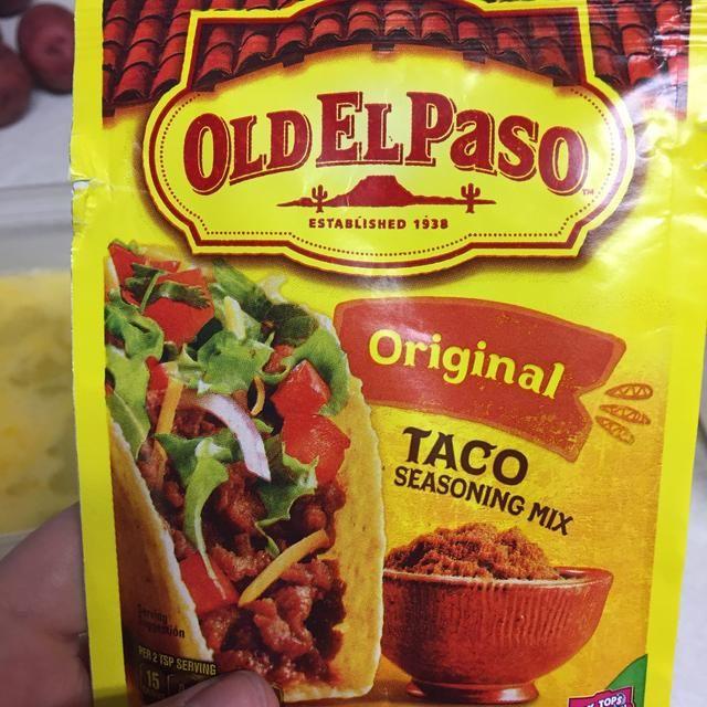 He utilizado viejo paseo sazonador para tacos pero por supuesto puedo usar cualquier marca que'd like! Dump the mix into another container.