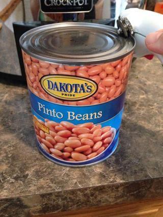 Abre los frijoles enlatados