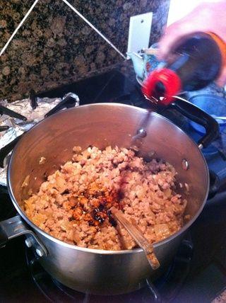 Añadir la salsa de soja.