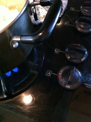 Coloque la estufa en las alturas.